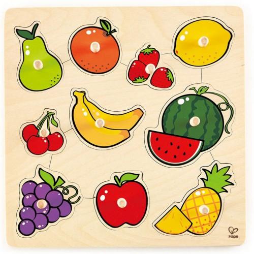 Fruit 10 pc Knob Wooden Puzzle