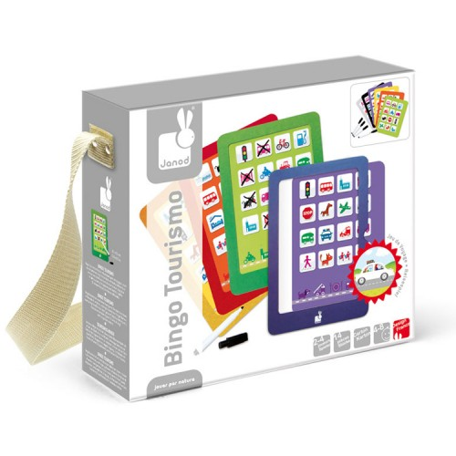 Kids Travel Picture Bingo Game – Bingo Tourismo – Janod