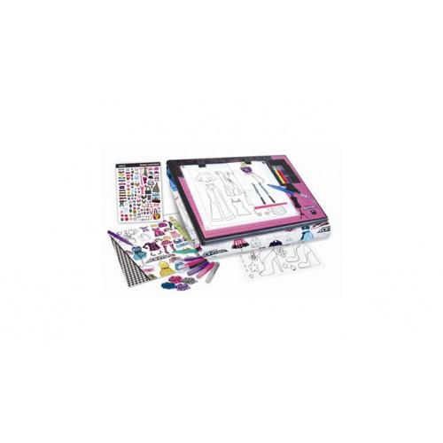 Project Runway Fashion Design Light Box Lap Desk Craft Set Educational Toys Planet