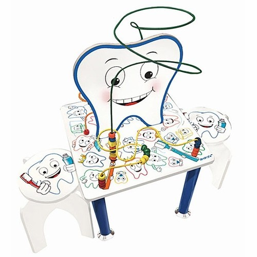 Smiley Tooth Table & Stools – Kids Dental Office Table Set