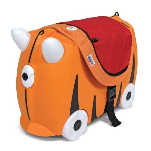 Saddle Bag for Trunki Suitcase Ride-On – Orange and Red