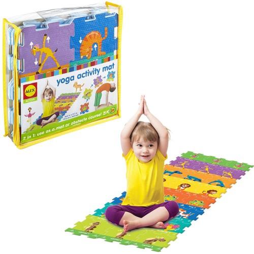 Kids Yoga Activity Mat 25 pc Foam Puzzle Set