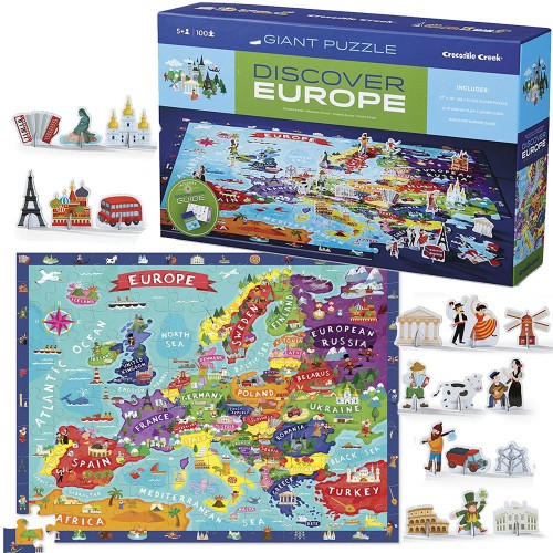 Discover Europe US Map Puzzle Play Set Educational Toys Planet - Us map pizzle