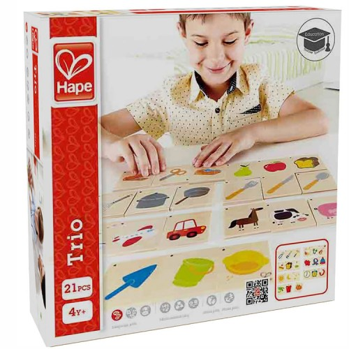 Trio Wooden Cards Sorting Game