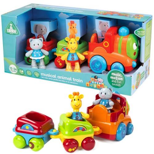 Animal Train Set : Toybox musical animal train toddler play set educational