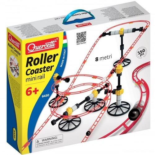 Quercetti Rollercoaster Mini Rail 150 pc Marble Run