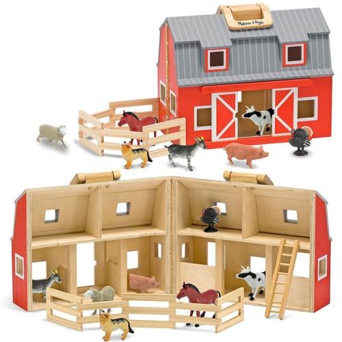 Fold & Go Barn Wooden Playset