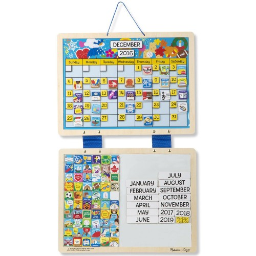 Weekly Calendar Magnet : Monthly magnetic calendar with magnets educational