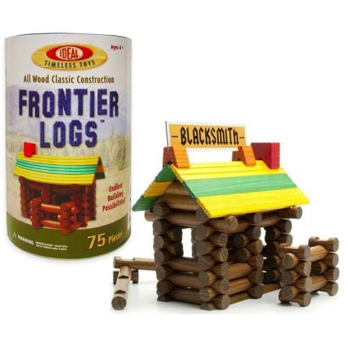 Frontier Logs 75 pc Wooden Classic Construction Set