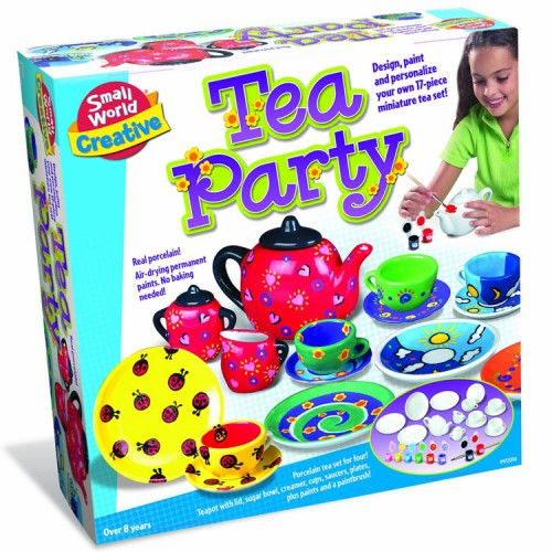 Paint Tea Set Craft Kit For Girls Educational Toys Planet