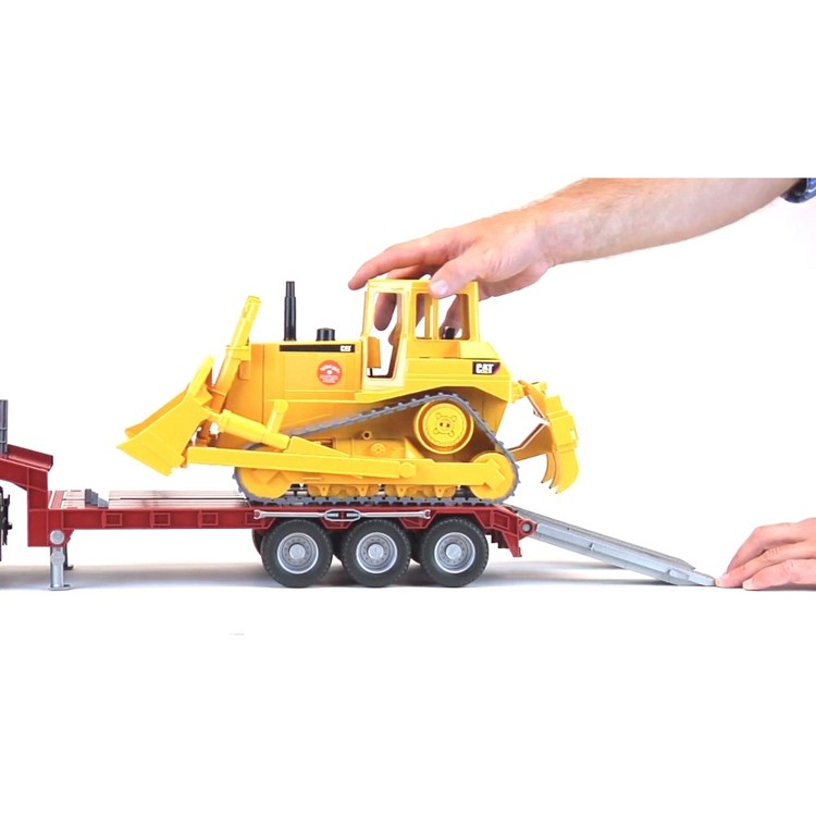 Bruder Construction Toys For Boys : Bruder scania r series low loader cat bulldozer