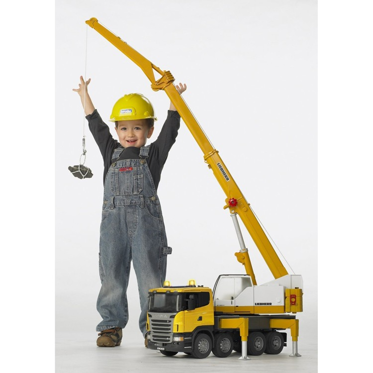 Toy Cranes For Boys : Bruder scania r series liebherr toy crane truck
