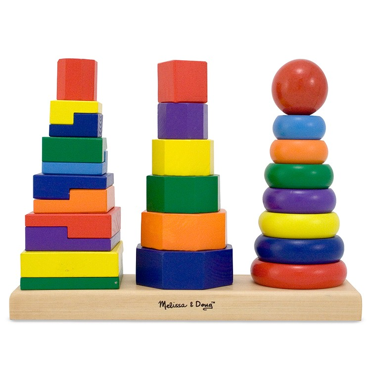 Geometric Stacker Wooden Stacking Toy - Educational Toys ...