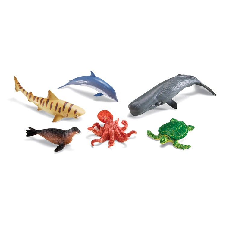 Sea Creature Toys : Jumbo ocean animals pc sea animal figurines set