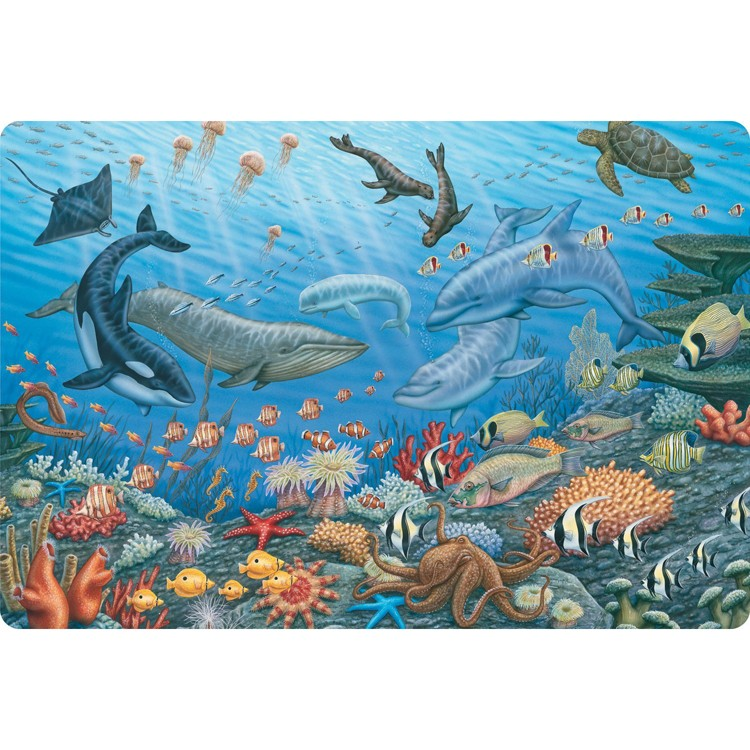 Ocean Life 24 Pc Jumbo Floor Puzzle Educational Toys Planet
