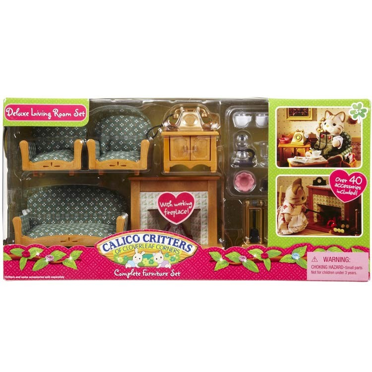 Calico Critters Deluxe Living Room Set - Educational Toys