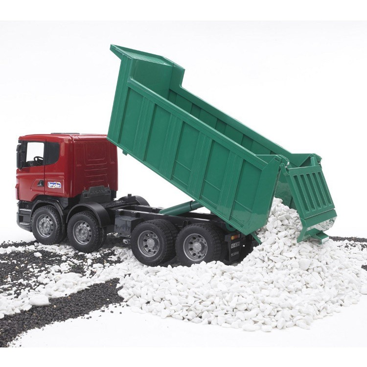 Bruder Scania R Series Deluxe Dump Truck Toy Educational