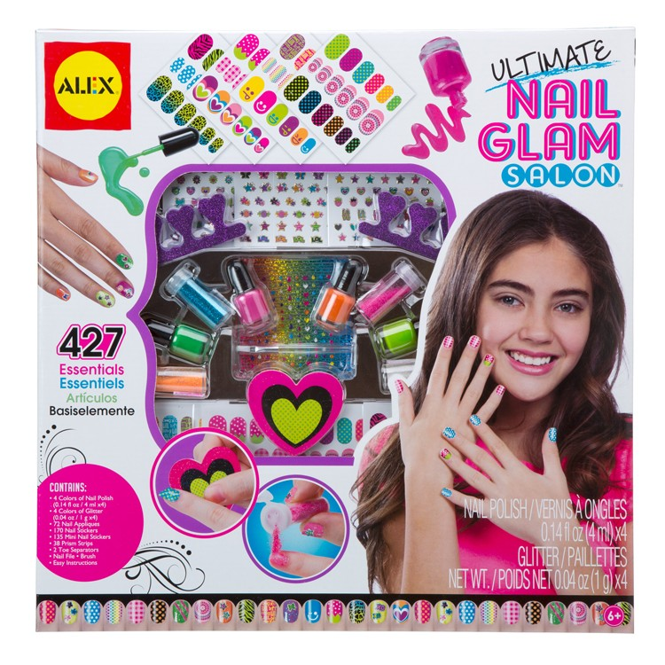 Nails Art Salon For Girls: Ultimate Nail Glam Salon Deluxe Craft Kit For Girls