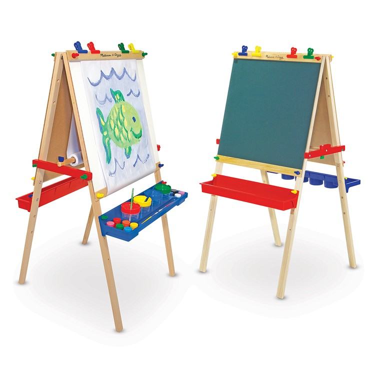 kids art easel deluxe wooden standing easel educational toys planet 10751