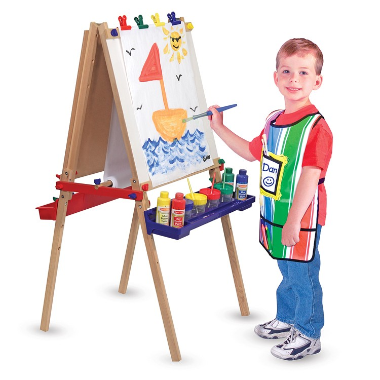 Deluxe Wooden Standing Art Easel Educational Toys Planet