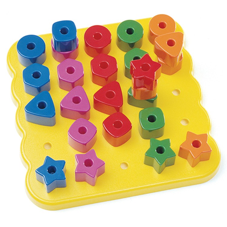Stacking Shapes Pegboard Learning Set Educational Toys