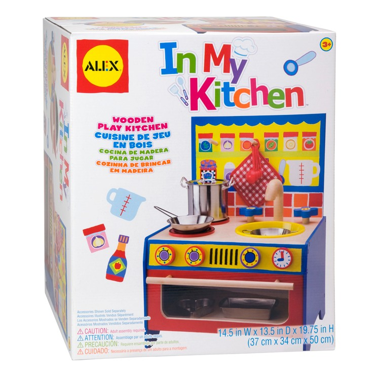 Kids wooden pretend play kitchen educational toys planet for Kitchen set playset