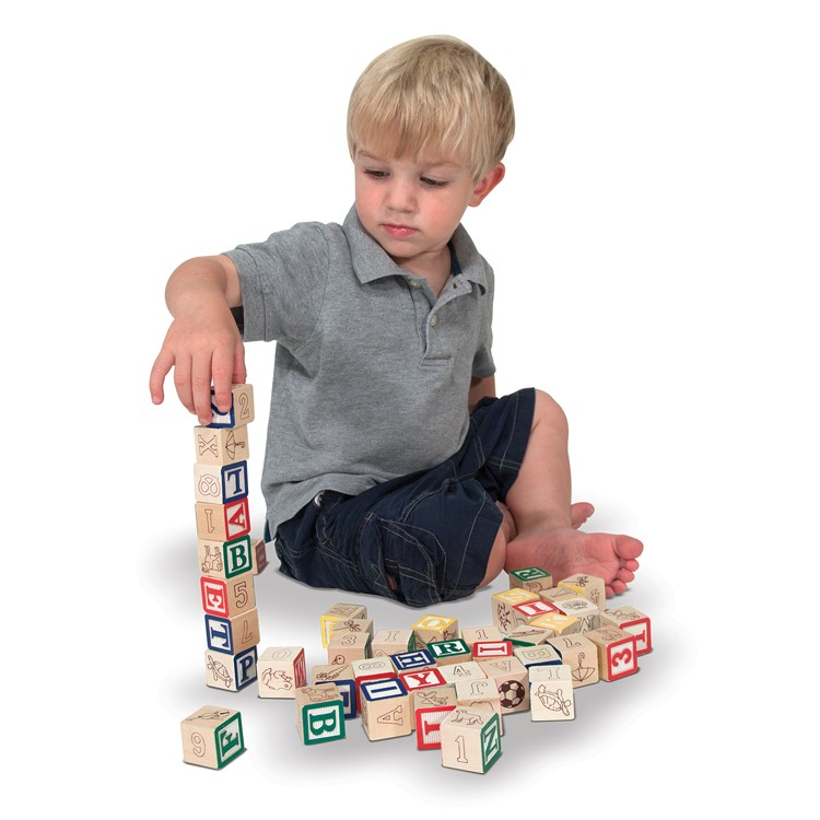 Wooden ABC-123 Blocks Learning Toy - Educational Toys Planet