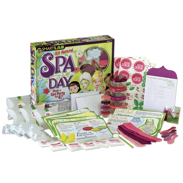 all natural spa day 4 girls party kit