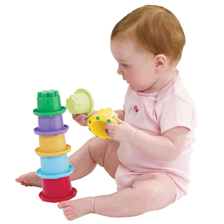 Stack n nest cups baby stacking toy educational toys planet for Toys to develop fine motor skills in babies