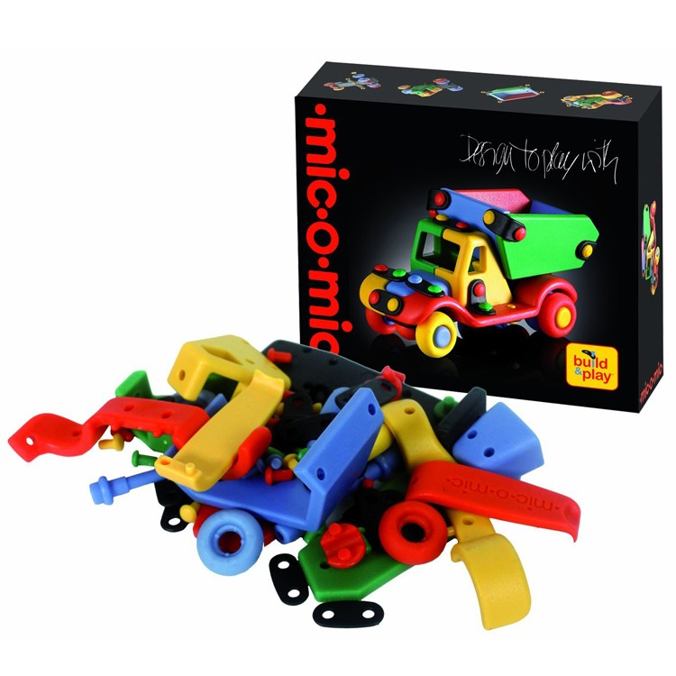 Mic o mic small dump truck build play toy educational for Jewelry making kit for 4 year old