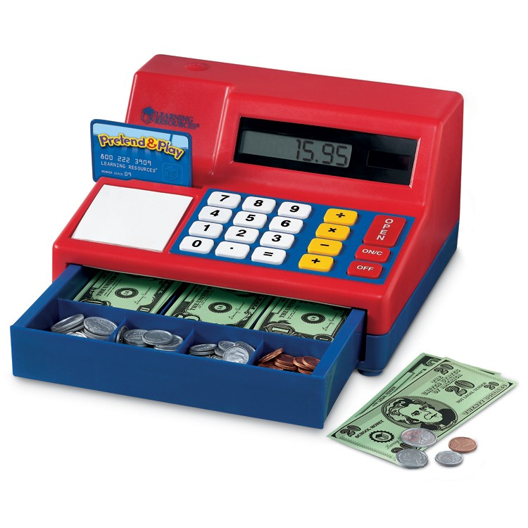 Electronic Learning Toys : Calculator cash register electronic learning toy