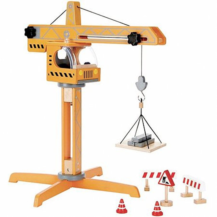 Toy Cranes For Boys : Crane lift pc construction wooden playset educational