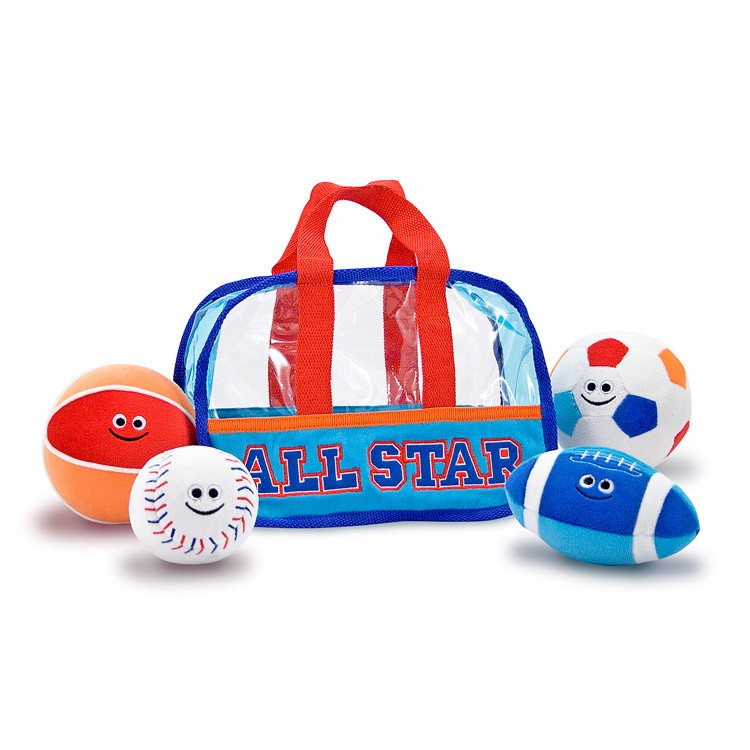 Toddler Toys Sports : Sports bag fill and spill baby soft balls playset