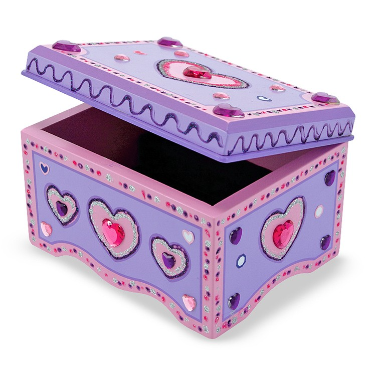 Decorate Your Own Wooden Jewelry Box - Educational Toys Planet