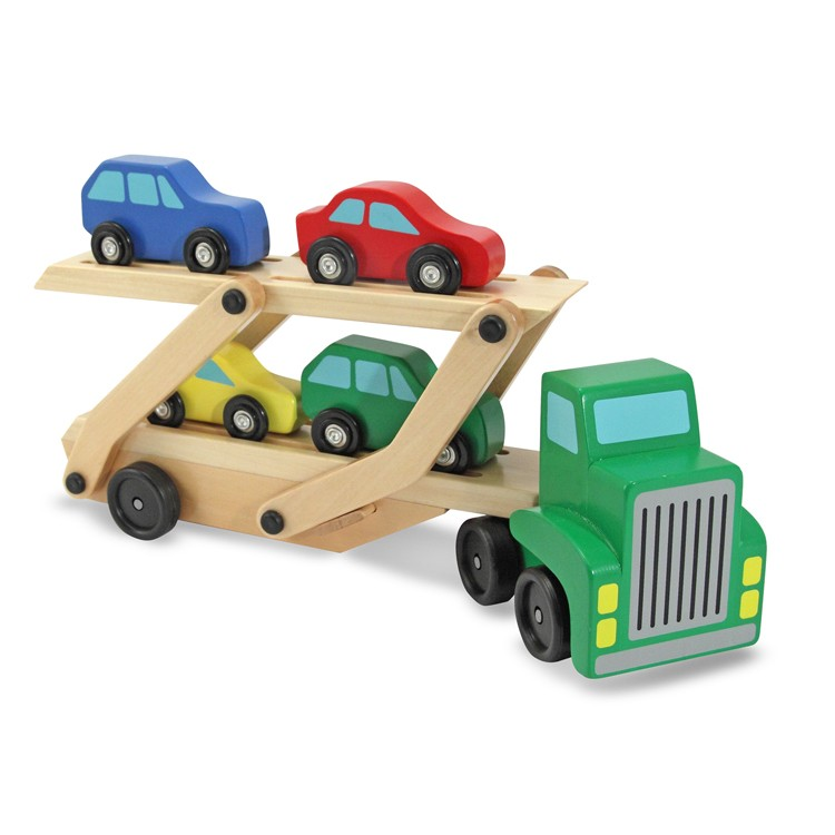 Toy Car Carrier : Wooden toy car carrier truck educational toys planet