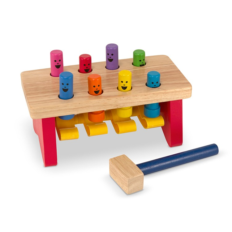 Wooden Toys Catalog : Deluxe pound a peg wooden toy educational toys planet