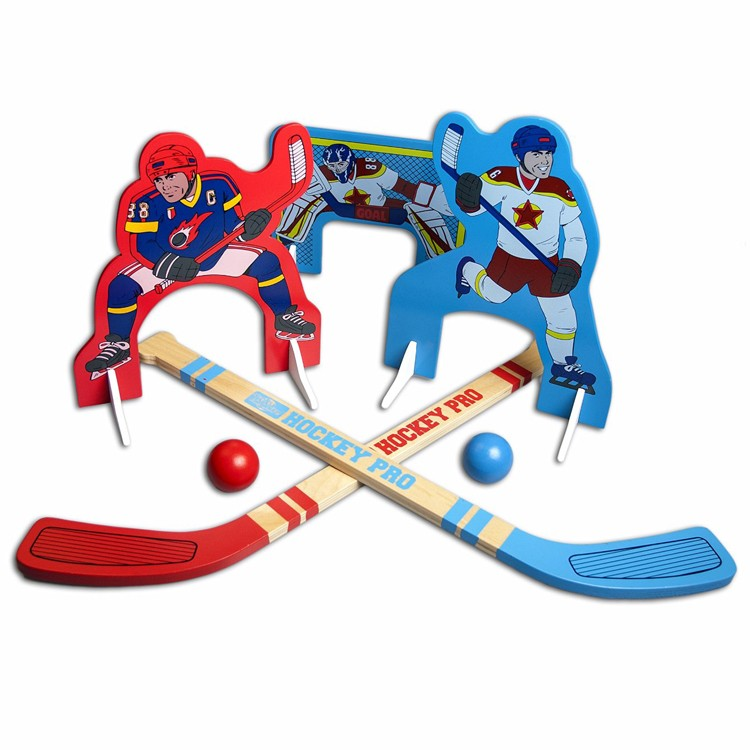 Kids Mini Hockey - Wooden Indoor and Outdoor Play Set ...