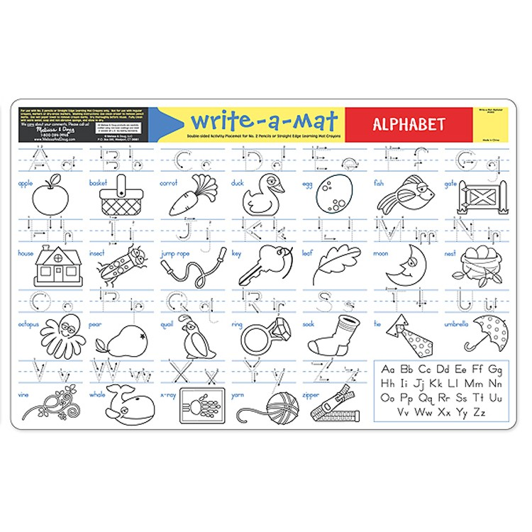Alphabet Learning Placemat Educational Toys Planet