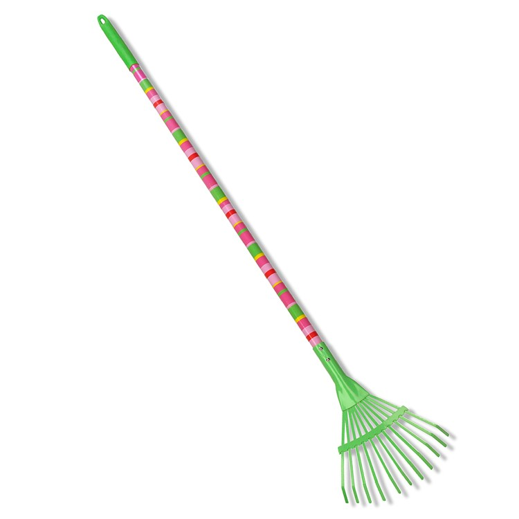 Blossom bright large garden rake for kids educational for Large rake garden tool