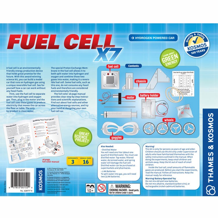 Fuel Cell X7 Hydrogen Powered Car Kit - Educational Toys Planet