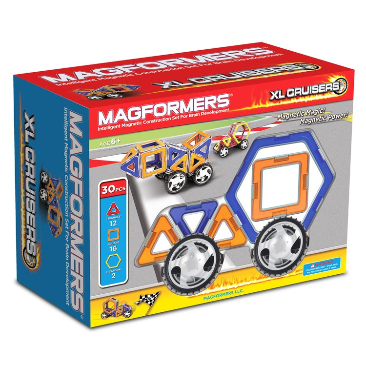 Building Toys Sets : Magformers xl cruisers car magnetic building set