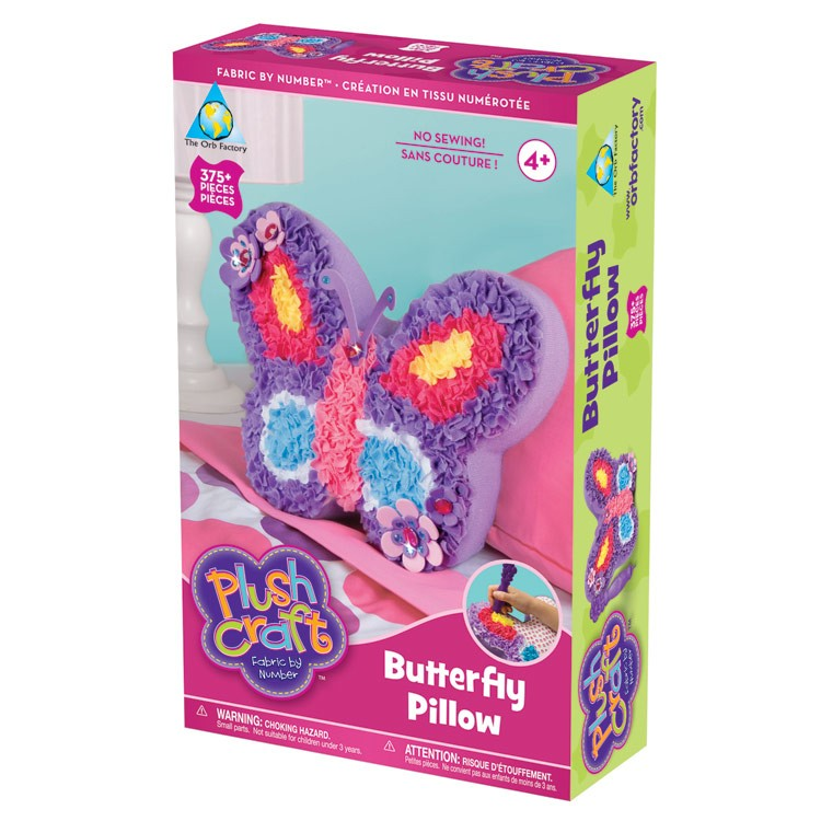 Plush Craft Butterfly Pillow Girls Craft Kit Educational