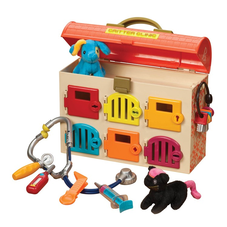 Critter Clinic Lock Amp Key Vet Hospital Set Educational Toys Planet