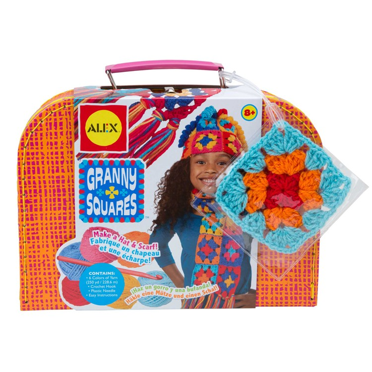 Granny Squares Crochet Girls Craft Kit - Educational Toys ...