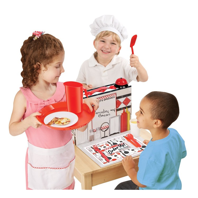 Pretend diner kids restaurant role playing set for Kitchen set for 2 year old boy