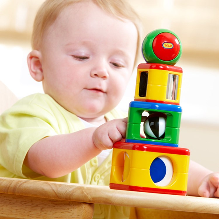 Manipulative Educational Toys : Stacking activity shapes baby manipulative toy