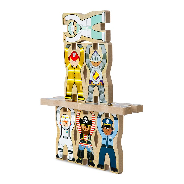 Stacking Toy Puzzles : Occupations stacking chunky puzzle educational toys planet