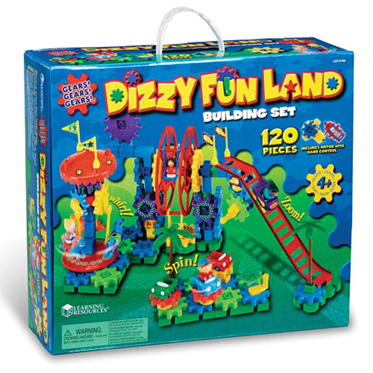 Educational Toys 8 Year Olds : Dizzy fun land motorized gears building toy educational