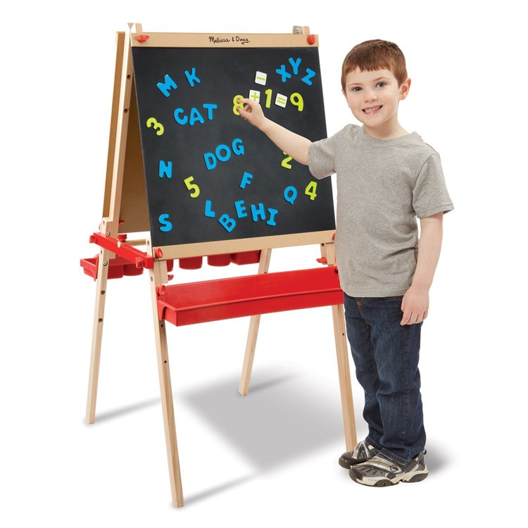 Deluxe Magnetic Standing Art Easel For Kids Educational