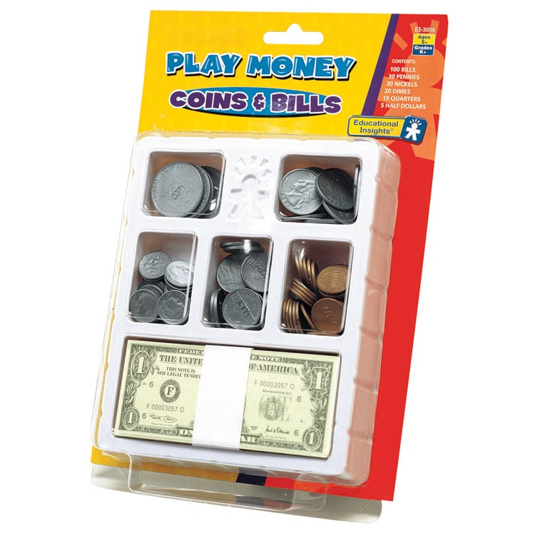 Pretend Toy Money : Realistic play money set educational toys planet